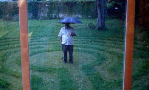 byard labyrinth in the rain