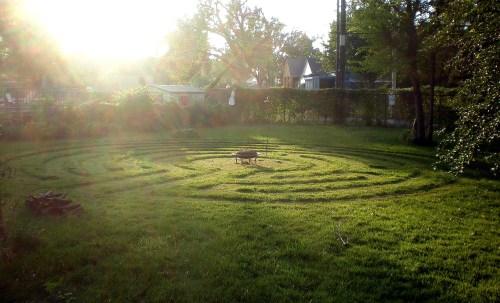 lawn labyrinth firebowl