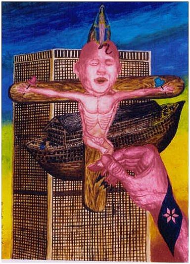 embryo jesus crucifix 911 ark