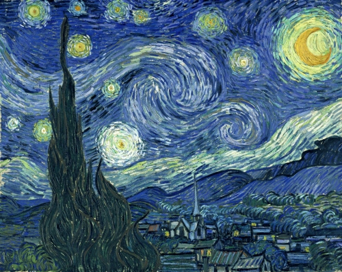 van Gogh starry crop 1