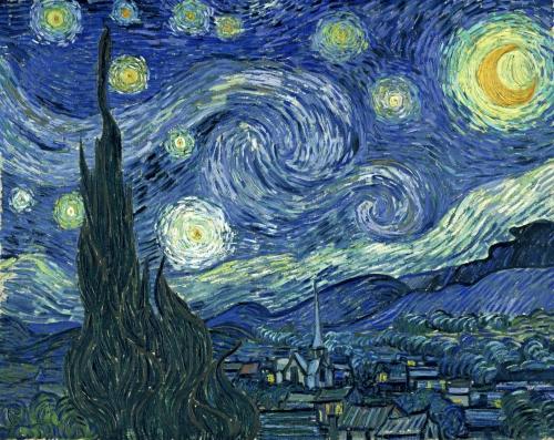 van Gogh starry crop 1
