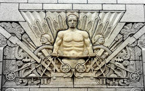 Art Deco Man Tulsa Fire