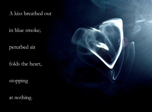 blue smoke heart text