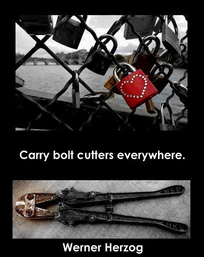 Werner Herzog bolt cutters 2