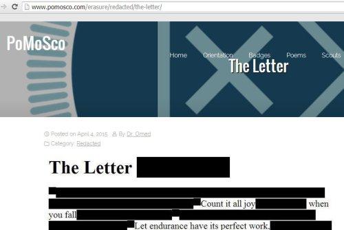 the letter pomosco screen cap