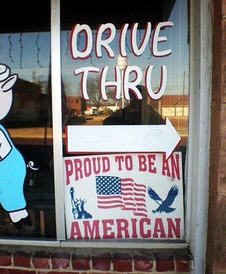 drive thru proud pig