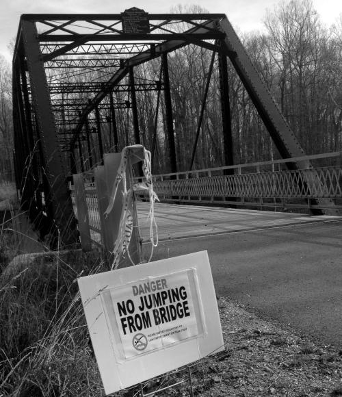 danger no jumping bridge crop3  bw