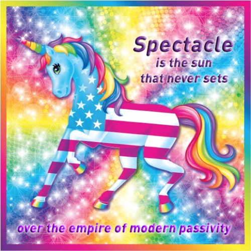 lisa frank nihilist unicorn spectacle