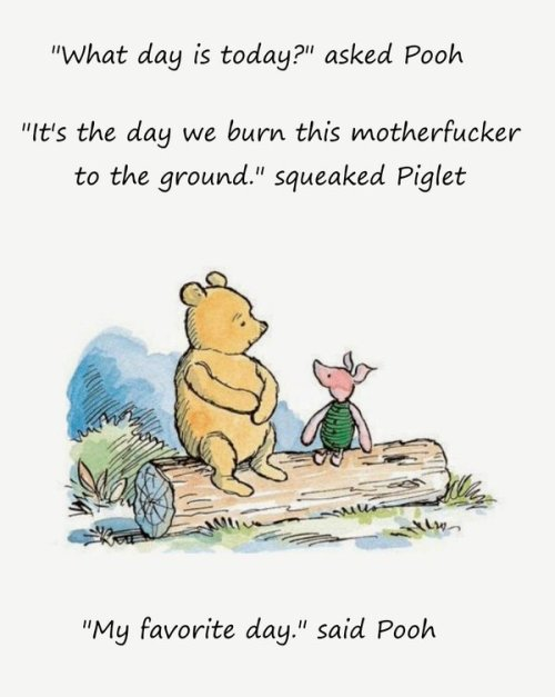 piglet pooh burn motherfucker