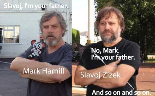 Zizek Hamill I'm your father text corbel