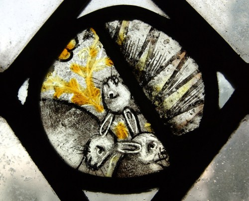 stained glass tinners rabbits