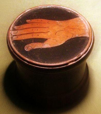 greek pyxis hand jar twk