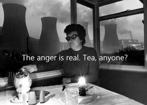 anger is real tea and cooling towers