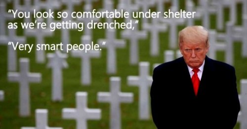 trump wwi crosses so comfortable very smart