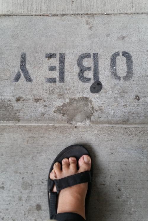 obey upside down footsie